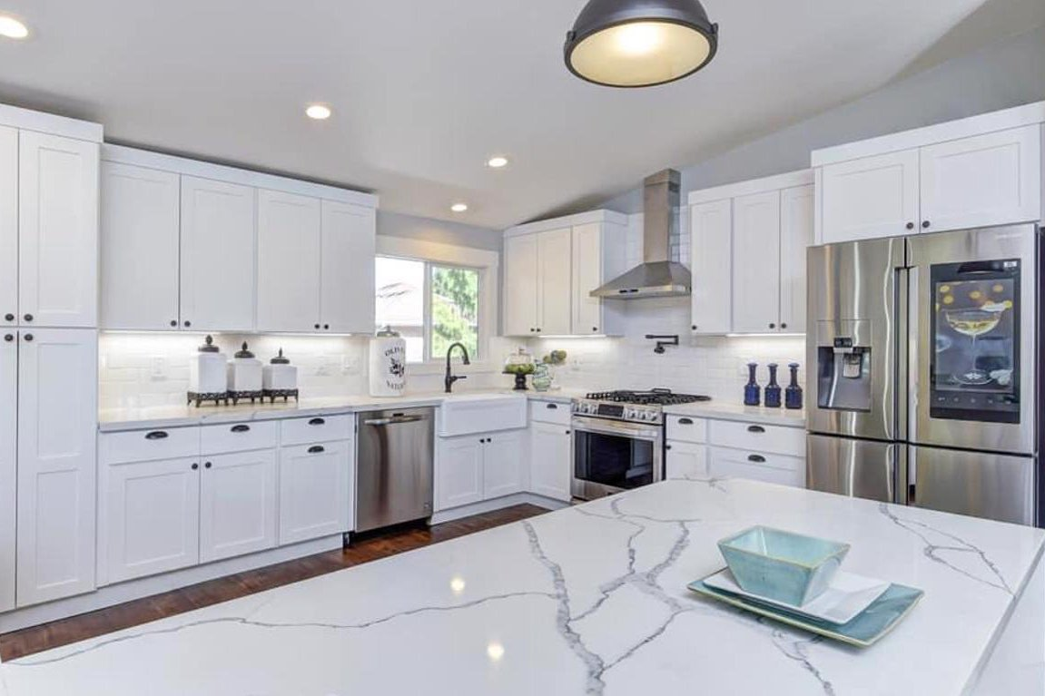 seattle washington pure white kitchen remodeling