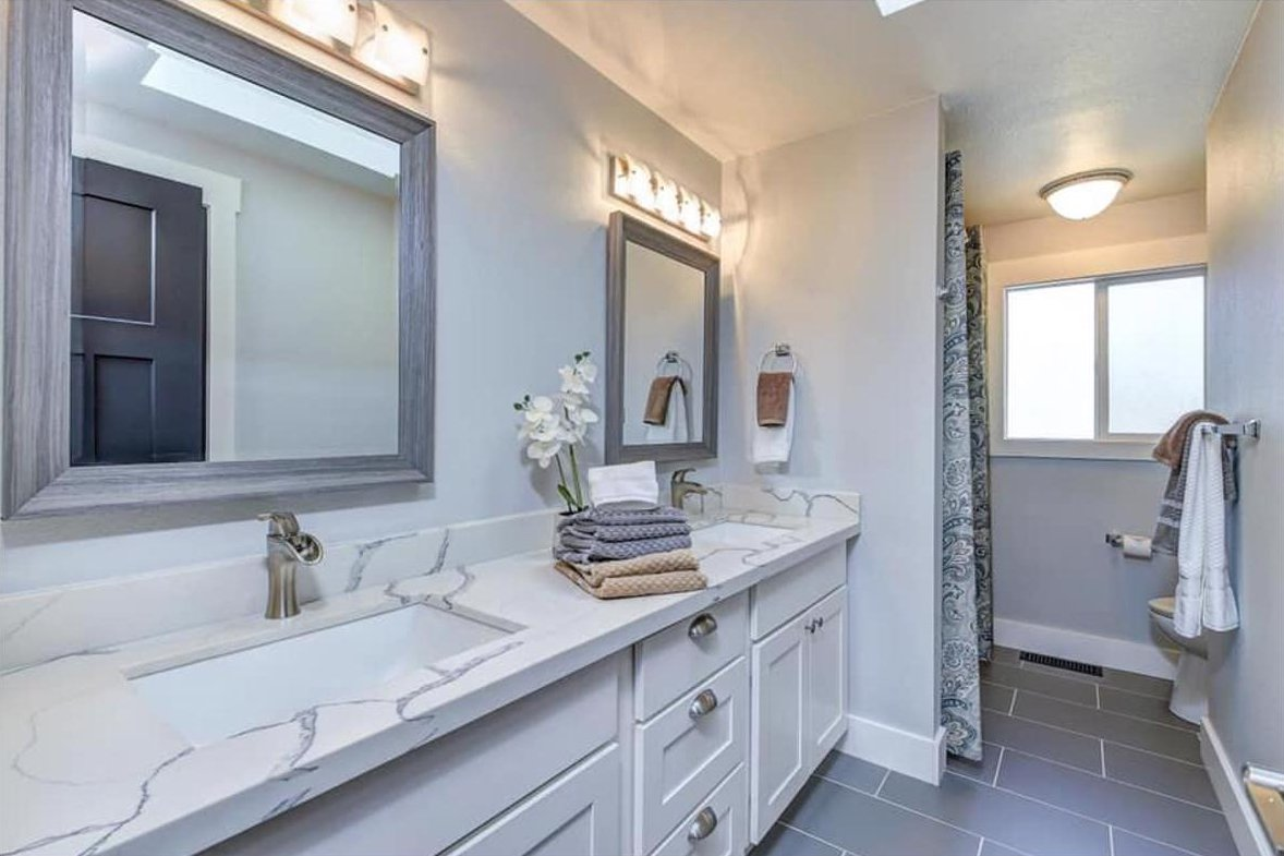 seattle washington white bathroom remodel