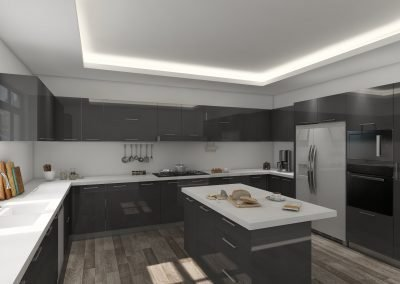 Portland Dark Grey Lacquer Cabinet