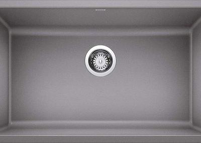 Blanco Precis Silgranit Sink - Metallic Gray